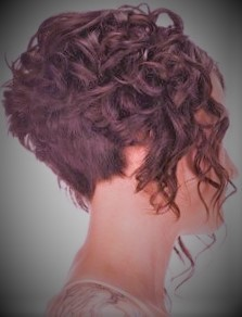 Cute Short Curled Wedge Bob Haircut Short Hairstyles Very short hairstyles
