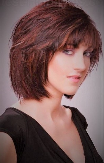 Cute Medium-Short Sassy Haircut Short Hairstyles Short layered hairstyles
